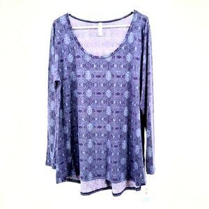 Lularoe 2X Lynnae New Plus Size Top purple long sleeve